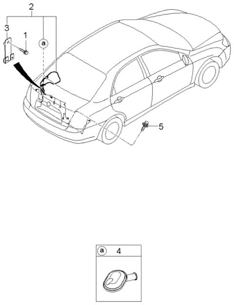 trunk lid wiring  2006 kia spectra sedan
