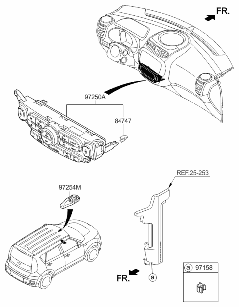 2017 Kia Soul EV CONTROL ASSEMBLY-HEATER Diagram