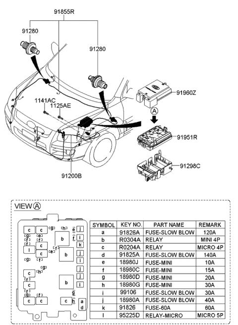 engine wiring - 2009 kia sportage  kia parts