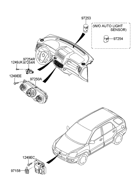 2009 Kia Sportage SENSOR-PHOTO & AUTOMATIC Diagram