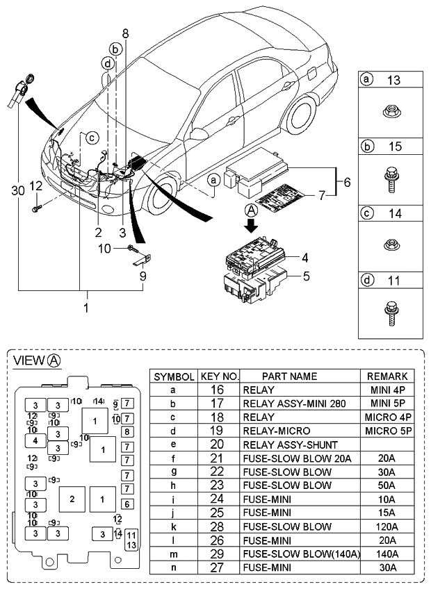 2006 kia spectra hatchback engine wiring
