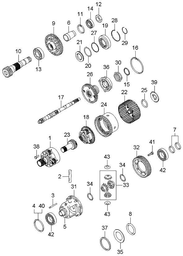 kia forte bearing diagram