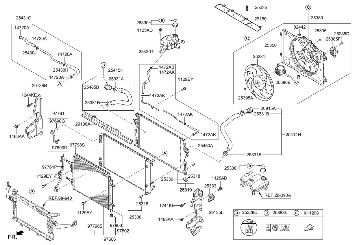 25328b1000 Genuine Kia Label Radiator Cap