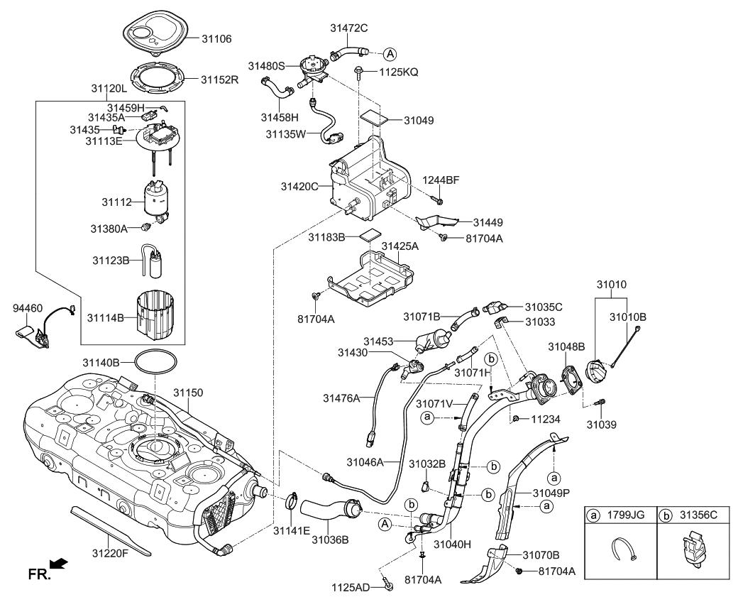 kia fuel pump diagram