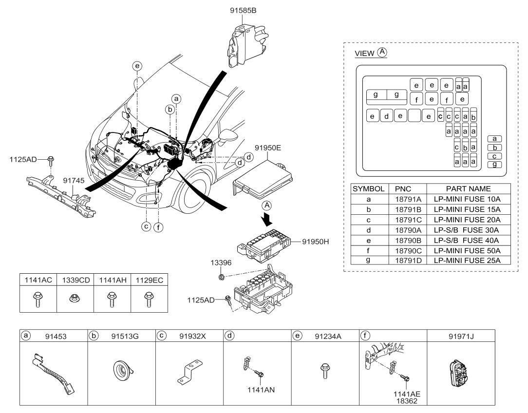 2016 Kia Rio front-wiring