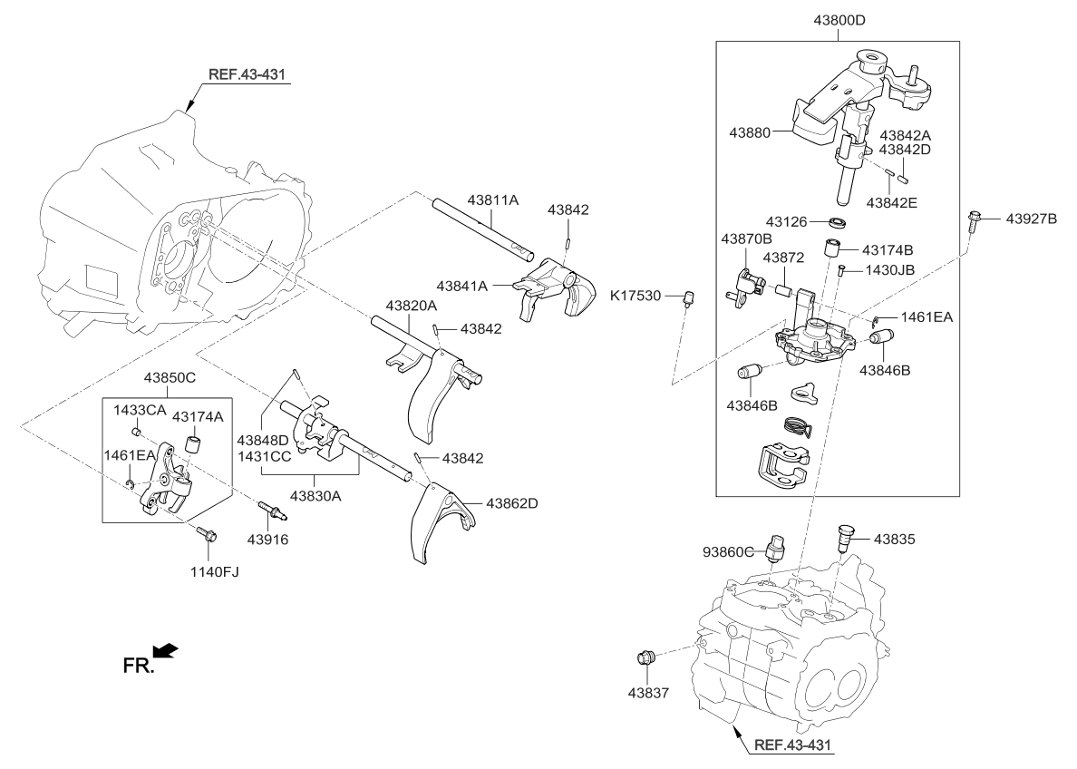 2016 Kia Rio Gear Shift Control Manual Parts Now Diagram