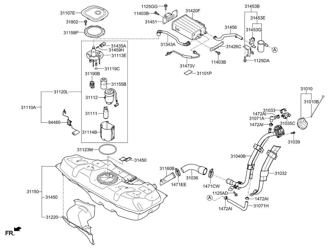 2016 Kia Rio Fuel System - Thumbnail 1
