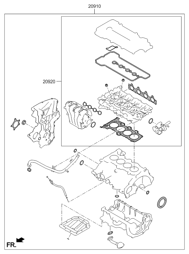2016 Kia Rio Engine Gasket Kit