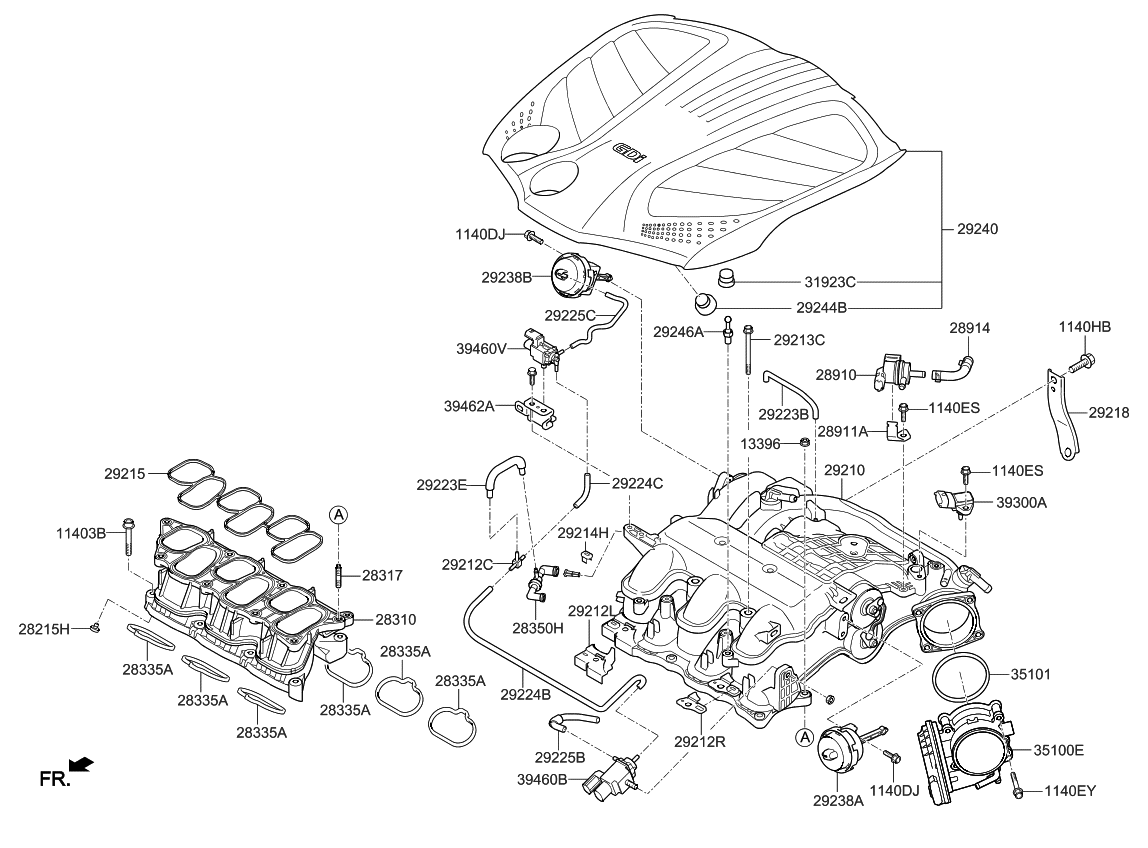 2015 Kia Cadenza Intake Manifold Kia Parts Now