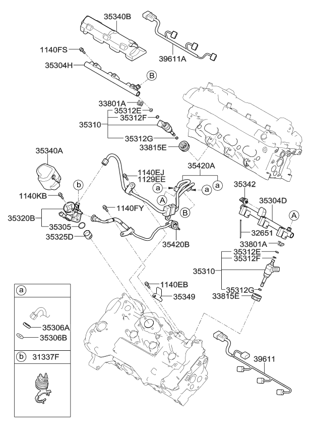 Kia Fuel Rail Rh 353043c651 as well Kia Forte Fan Diagram also Kia Power Booster 59110f6300 also Kia Door Trim Panel 83301f6140yav further Bushing And Bearings. on 2017 kia cadenza