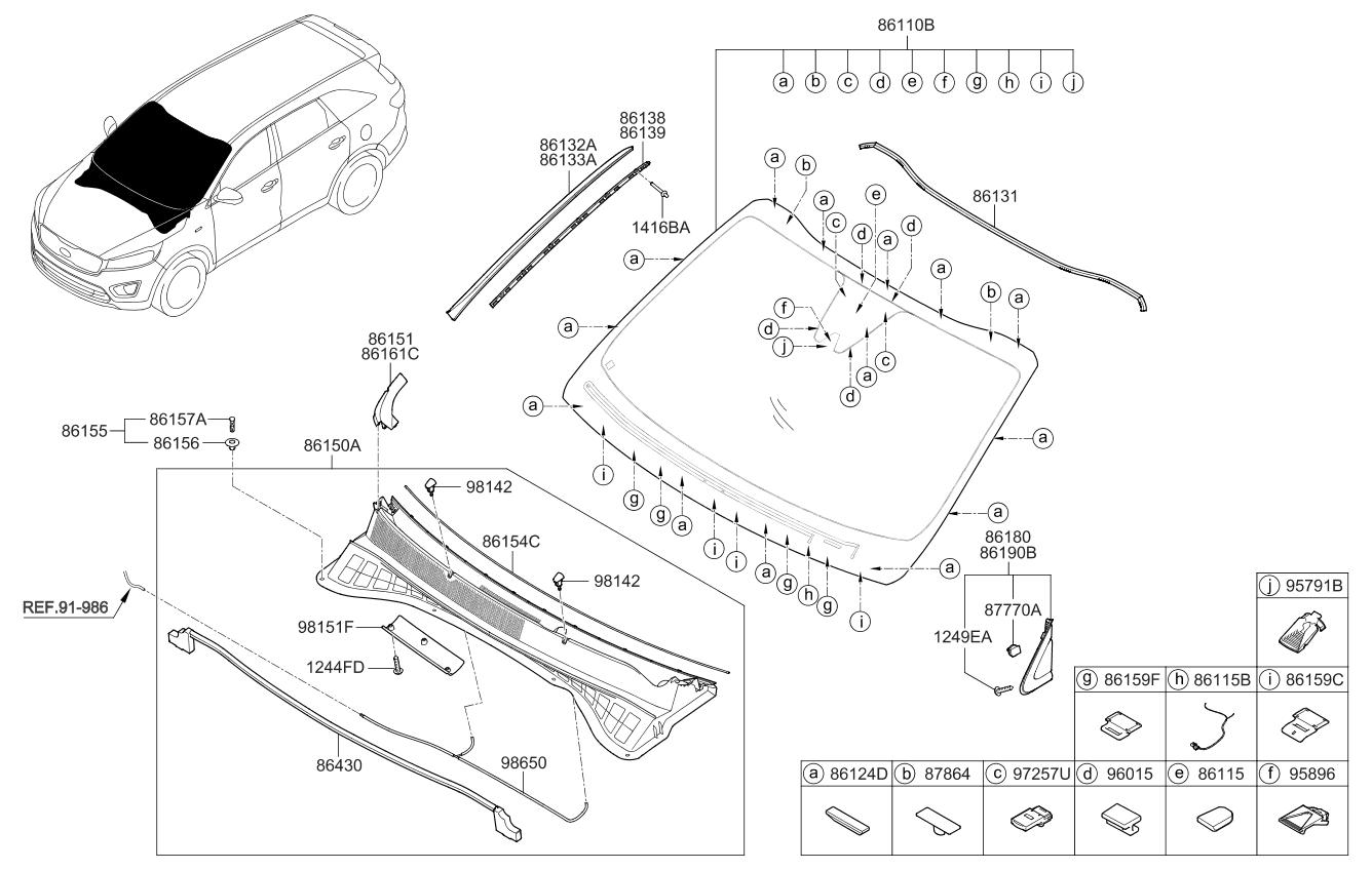 2015 Kia Sorento Windshield Glass Parts Now Wiring Harness
