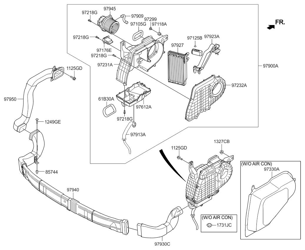 2015 Kia Soul Blower Motor Resistor