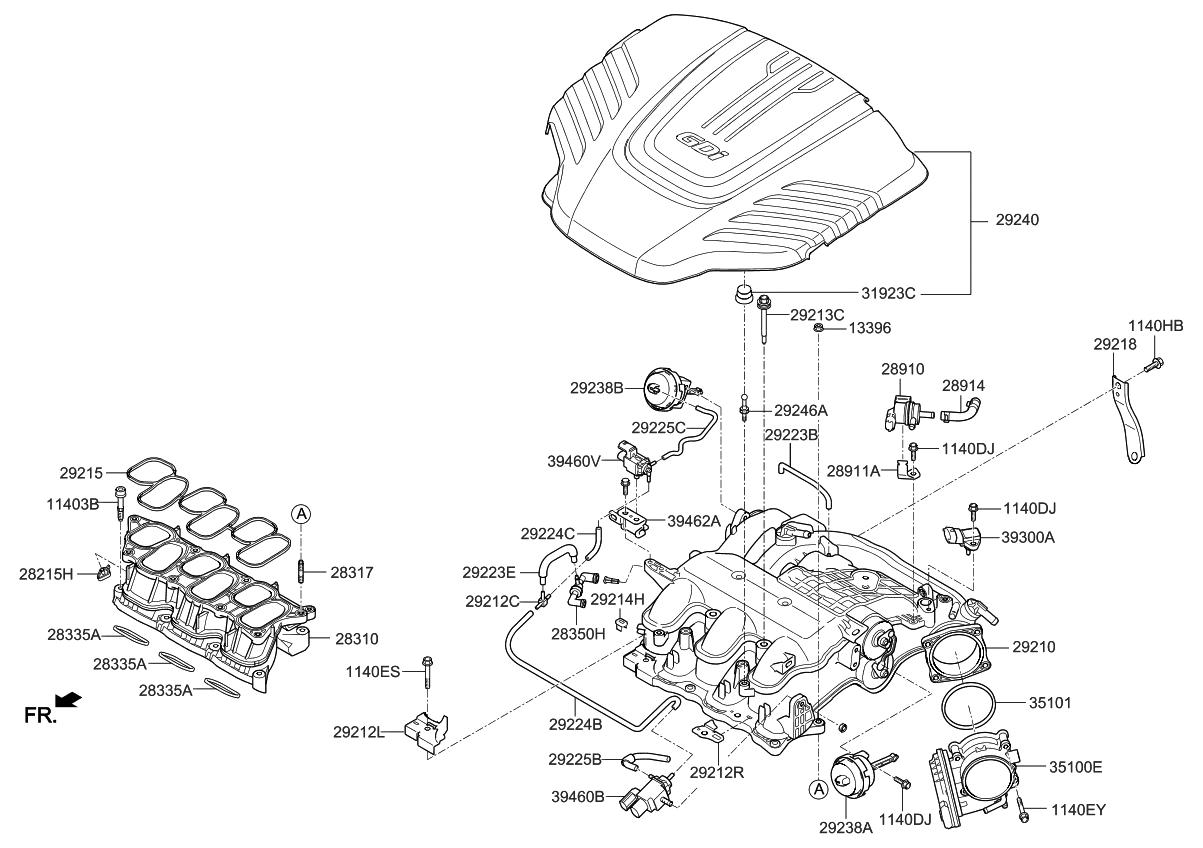 2015 Kia Sorento Intake Manifold Parts Now Wiring Harness Thumbnail 5