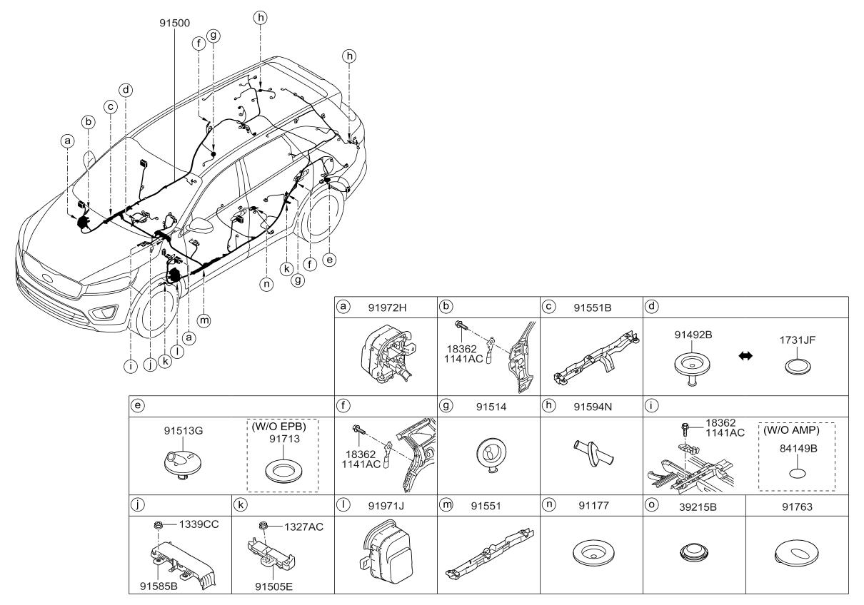 Kia Sorento Wiring Harness Diagram