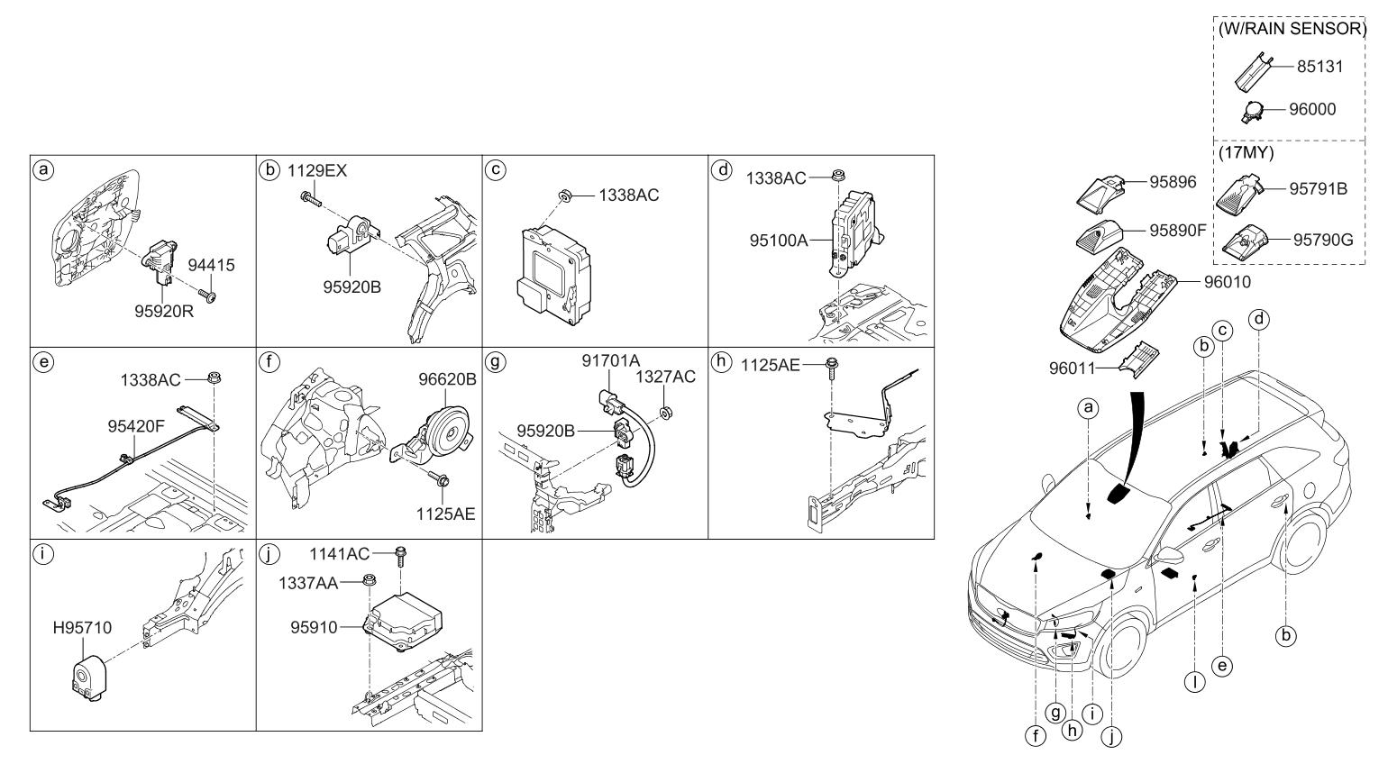 2015 Kia Sorento Relay & Module - Thumbnail 1