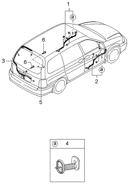2003 kia sedona door wiring harnesses kia parts now 2005 Kia Sedona Engine Diagram of Motor Parts at 2003 Kia Sedona Engine Wiring Harness