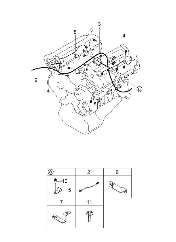 2003 kia sedona engine & transmission wiring harnesses 2006 Kia Sedona Starter Location at 2003 Kia Sedona Engine Wiring Harness