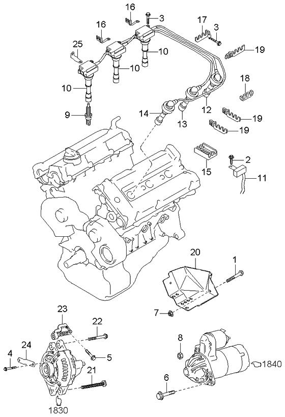 2005 Kia Sedona Spark Plug Location On Kia Optima V6 Engine Diagram