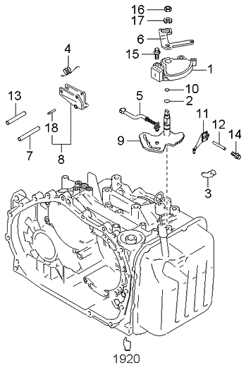 2003 kia sedona manual linkage system kia parts now rh kiapartsnow com 2003 Kia Sedona Engine Diagram 2003 Kia Sportage