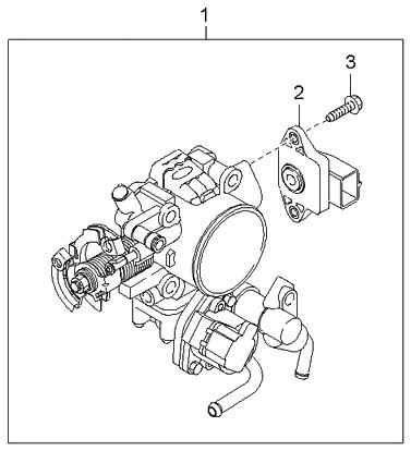 2005 Kia Sedona Throttle Body - Kia Parts Now