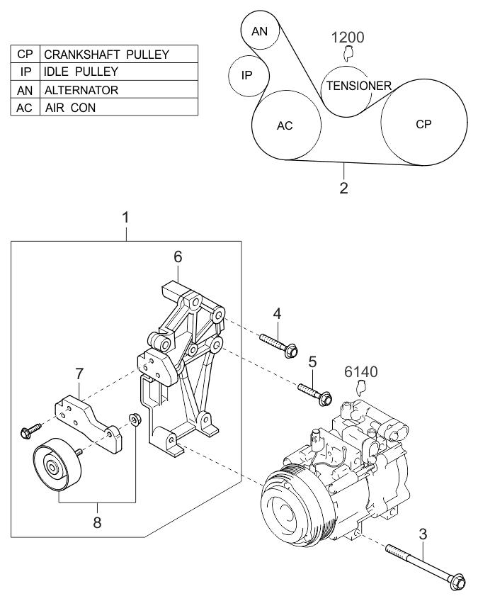 2002 Kium Sedona Engine Schematic