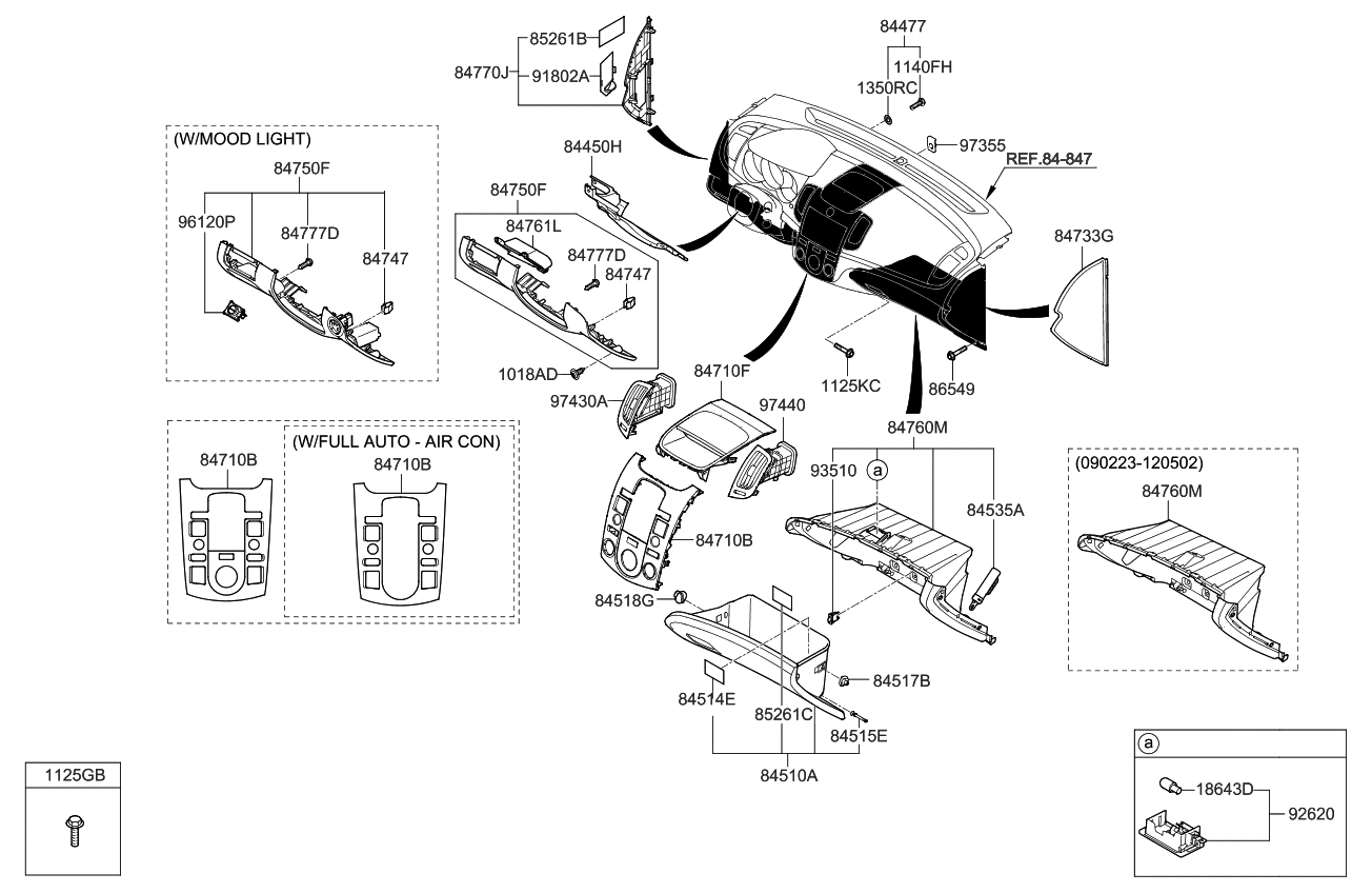 845101m300wk Genuine Kia Housing Assembly Glove Box 2010 Forte Engine Diagram Crash Pad Lower