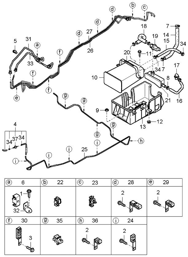 2005 kia sorento fuel line kia parts now rh kiapartsnow com 2005 Kia Sorento Problems 2014 Kia Sorento Parts Diagram
