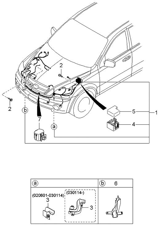 2003 kia sorento engine wiring