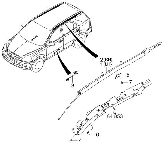 2003 Kia Sorento Transmission: 2003 Kia Sorento Curtain Air Bag