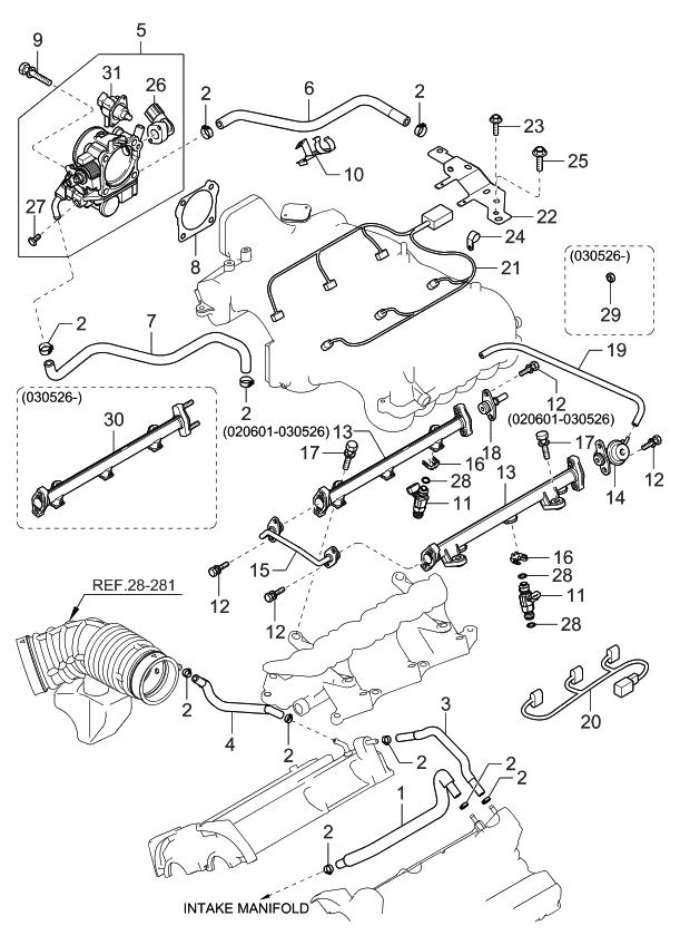 3961039400 genuine kia harness ignition coiling  2004 kia sorento throttle body injector