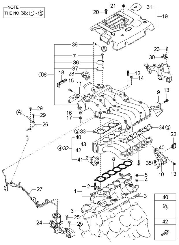 2003 kia sorento intake manifold kia parts now rh kiapartsnow com 2003 kia sorento engine diagram 2003 kia sedona engine wiring diagram