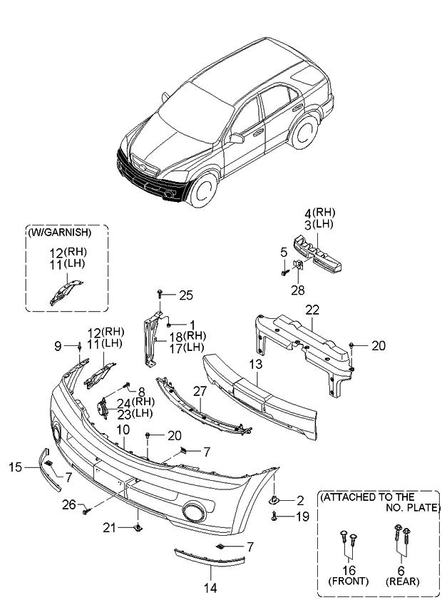 2003 Kia Sorento Front Bumper ~ Best KIA