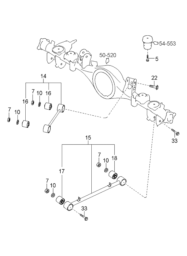 2005 kia sorento rear suspension control arm kia parts now rh kiapartsnow com 03 Kia Sorento Crankshaft Position Sensor Replacement Kia Sorento Parts Diagram