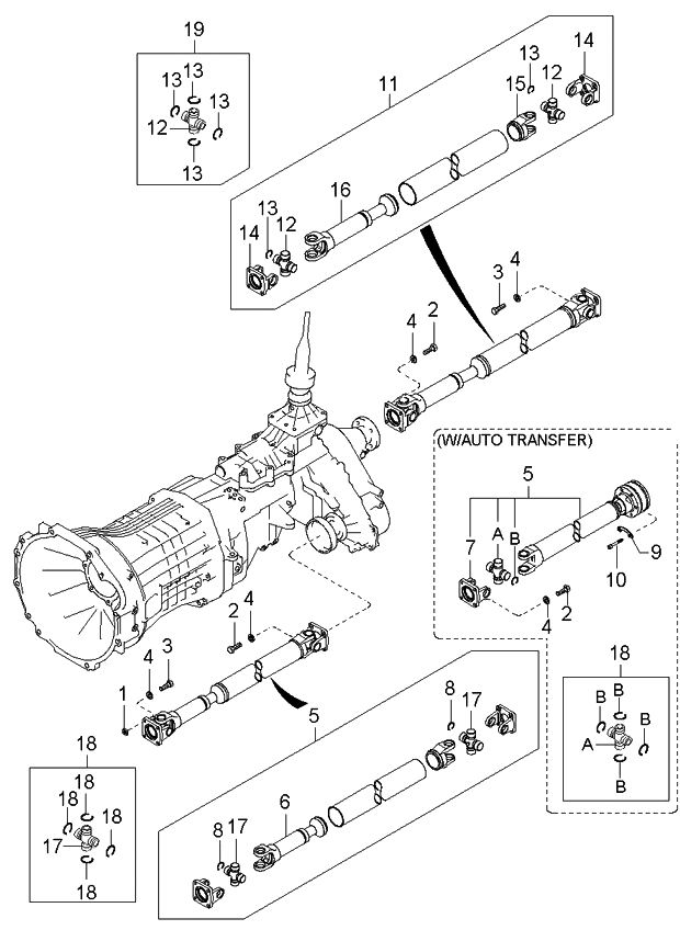 491003e050 genuine kia propeller shaft front rh kiapartsnow com propeller shaft assembly diagram propeller shaft line diagram
