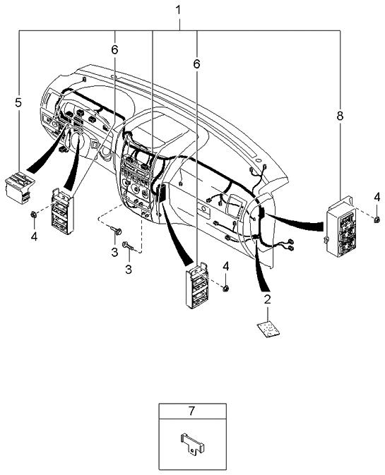 2004 kia sorento instrument wiring