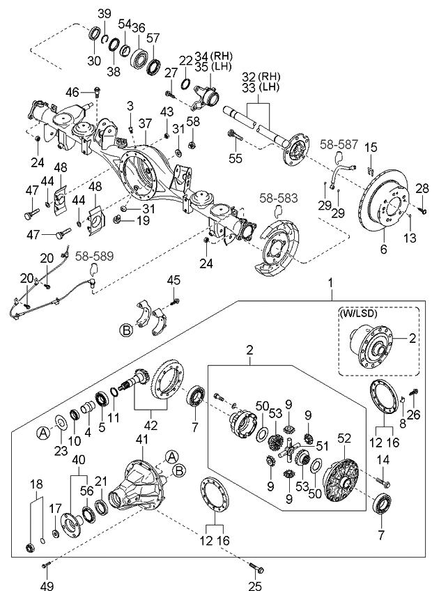 2005 kia sorento rear axle kia parts now rh kiapartsnow com 2003 Kia Sorento Parts Diagram Kia Sorento Parts Diagram