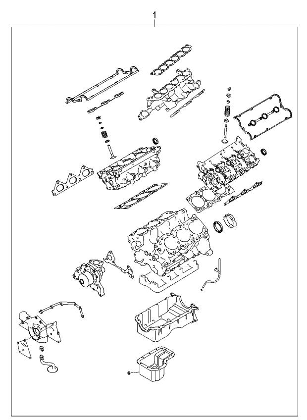 2004 kia sorento engine gasket kit kia parts now. Black Bedroom Furniture Sets. Home Design Ideas