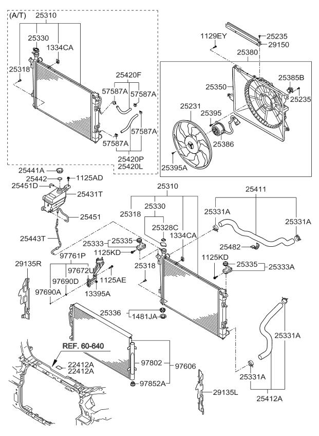 2012 Kia Sorento Engine Cooling System - Kia Parts Now Headlight Kia Sorento Wiring Diagram on