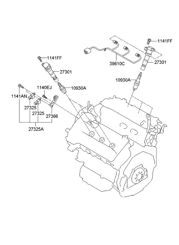 2011 Kium Sorento Engine Schematic
