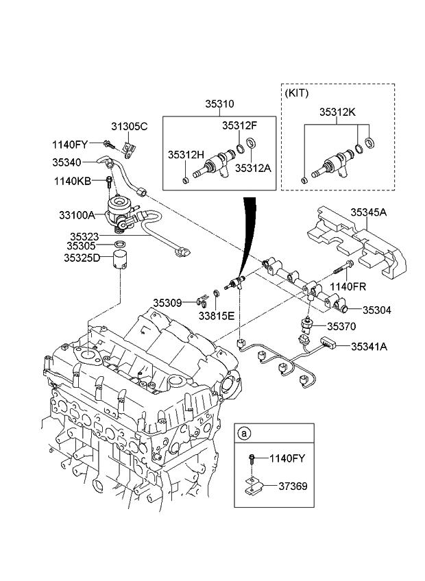 2012 Kia Sorento Throttle Body  U0026 Injector
