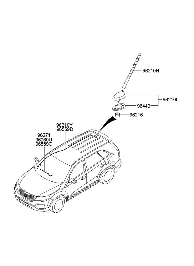 2012 Kia Sorento Antenna - Kia Parts Now