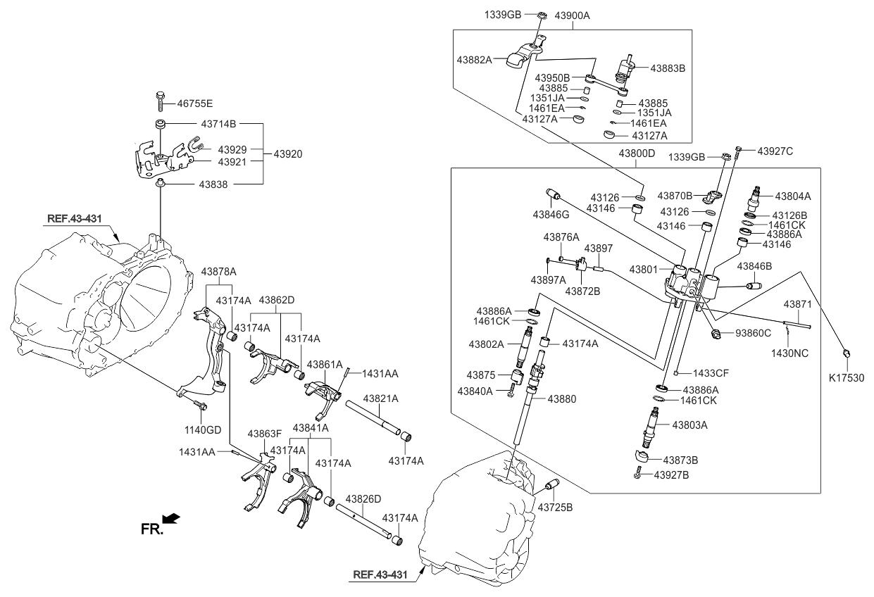 2012 Kia Sorento Gear Shift Control Manual Parts Now Fuel Filter