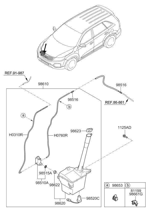 2012 Kia Sorento Windshield Washer - Kia Parts Now Headlight Kia Sorento Wiring Diagram on