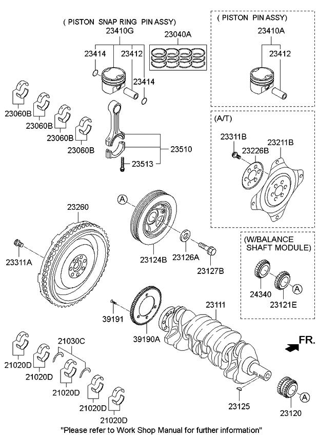 232002g210 Genuine Kia Flywheel Dual Mass