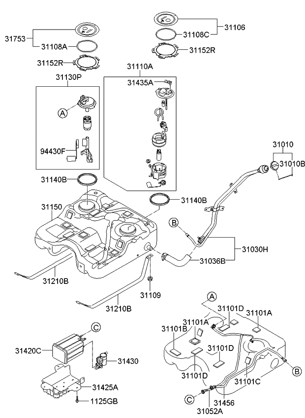 Prime 311101U300 Genuine Kia Complete Fuel Pump Wiring 101 Capemaxxcnl