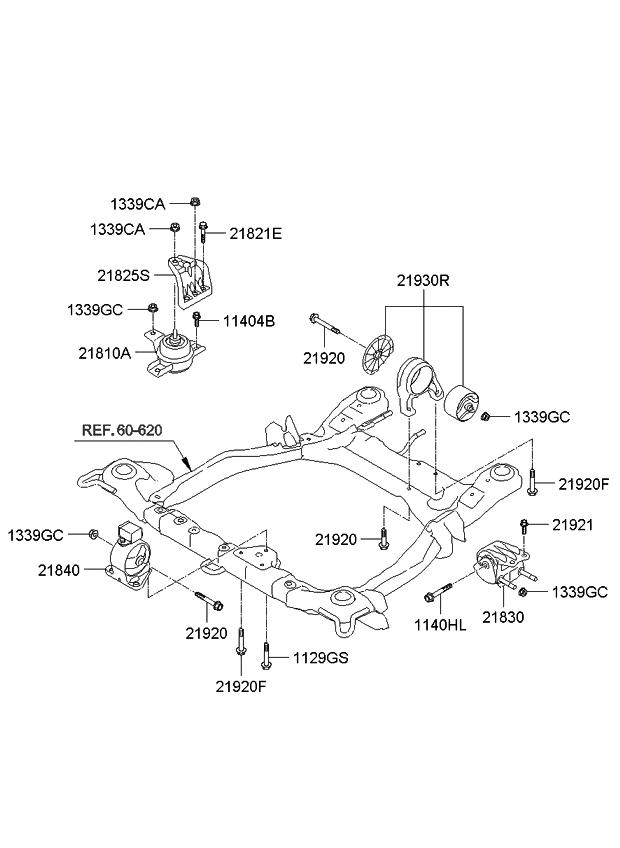 218252b100 genuine kia bracket support engine mounting. Black Bedroom Furniture Sets. Home Design Ideas