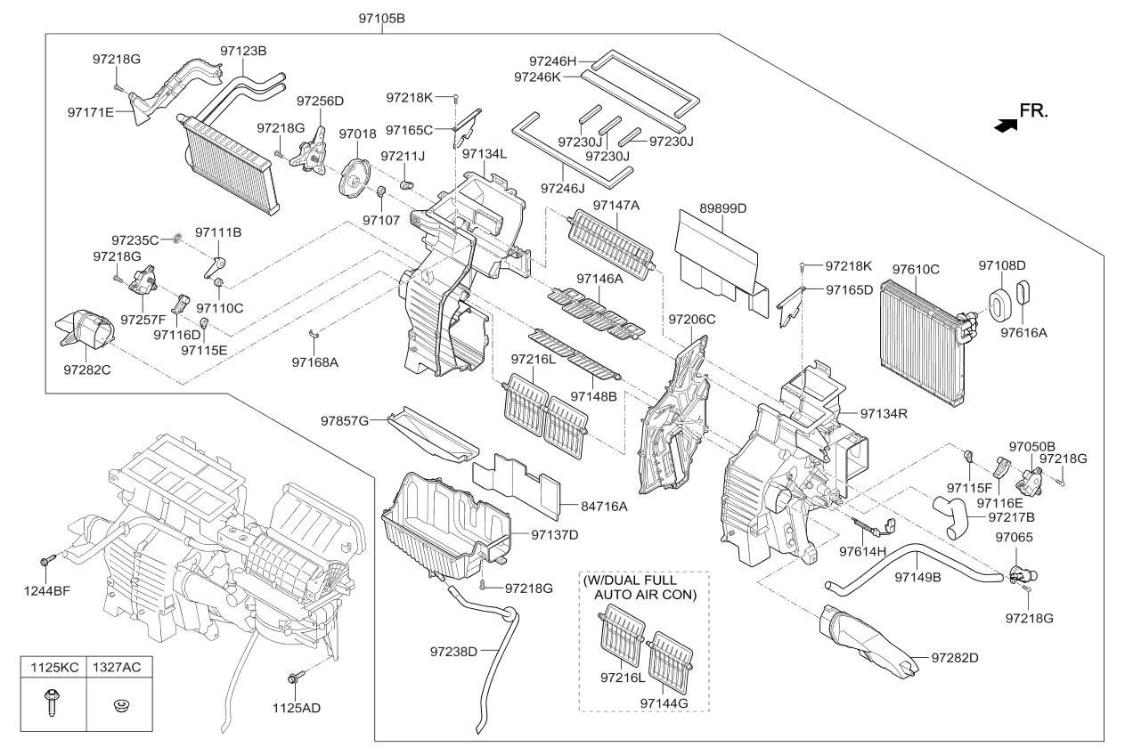 97139A9000 - Genuine Kia EVAPORATOR ASSEMBLY