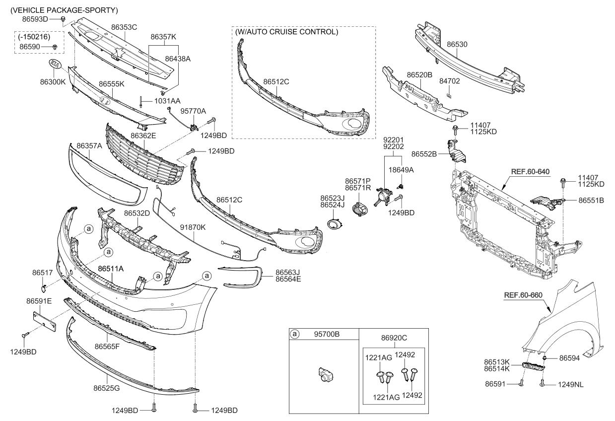 86352A9500  Genuine    Kia    MESHRADIATOR GRILLE