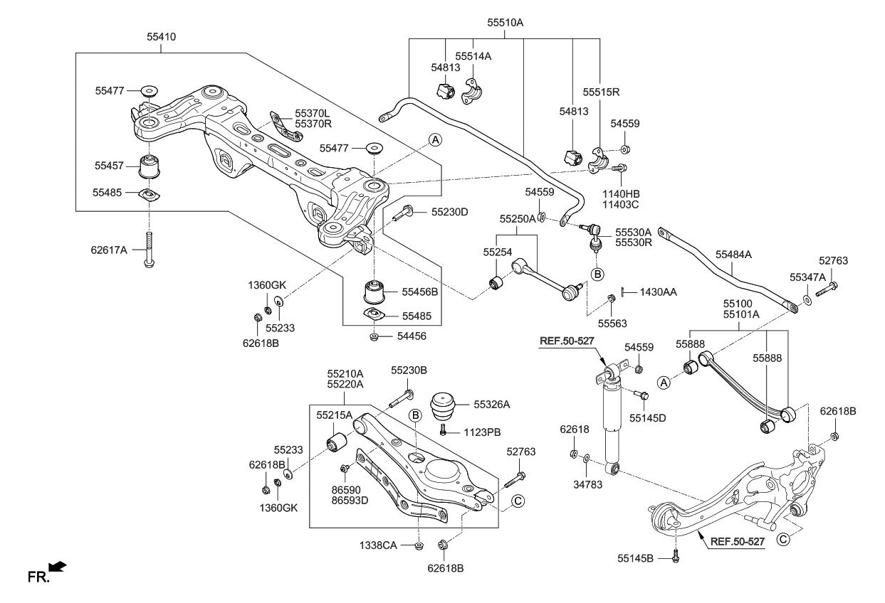 2005 Kia Sedona Suspension Diagram
