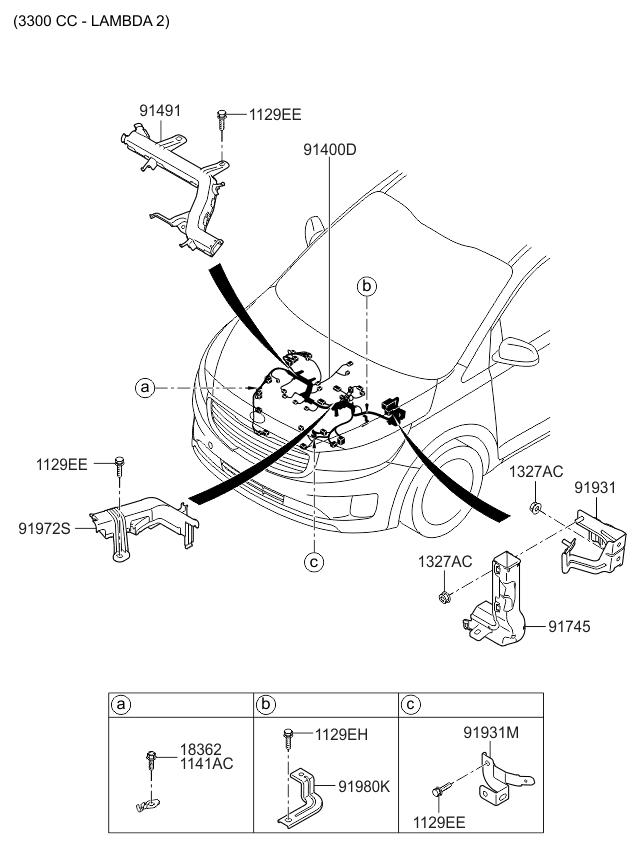 2015 Kia Sedona Control Wiring